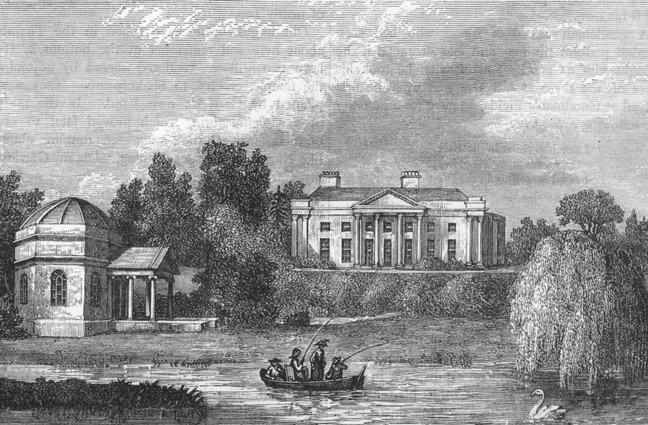 Associate Product HAMPTON. Hampton House (from a print published 1787) 1888 old antique