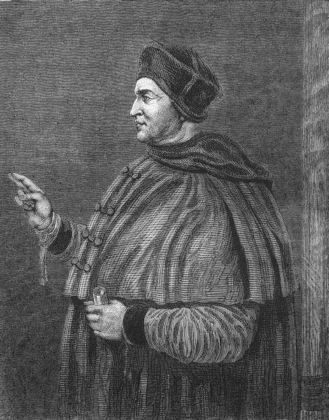 Associate Product HAMPTON COURT PALACE. Cardinal Wolsey (After Holbein) 1888 old antique print