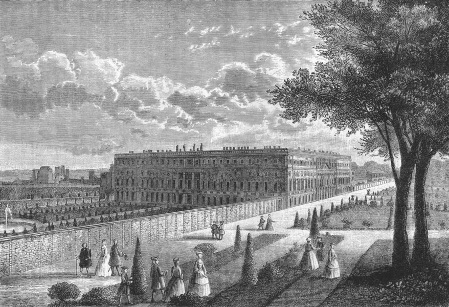 Associate Product HAMPTON COURT PALACE . Hampton Court (from a print published about 1770) 1888