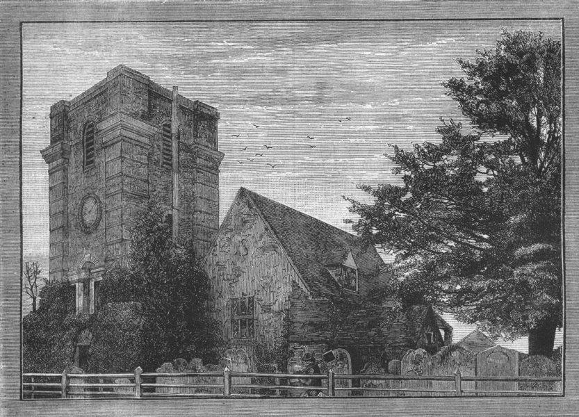 Associate Product LALEHAM. Laleham Church. Surrey 1888 old antique vintage print picture