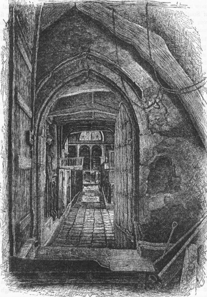 Associate Product EALING. Interior of Perivale Church. From an 1848 etching by WL Wilkins 1888