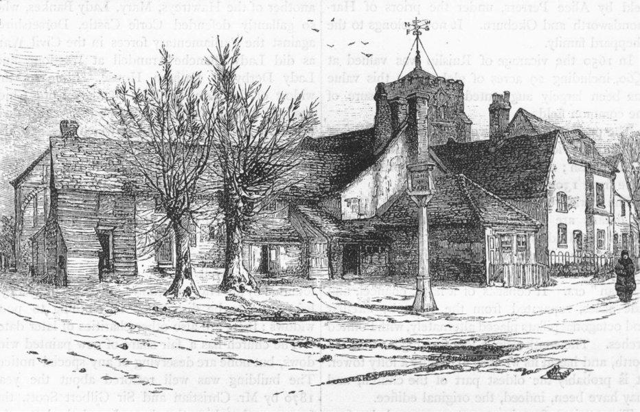 Associate Product RUISLIP. View of Ruislip 1888 old antique vintage print picture