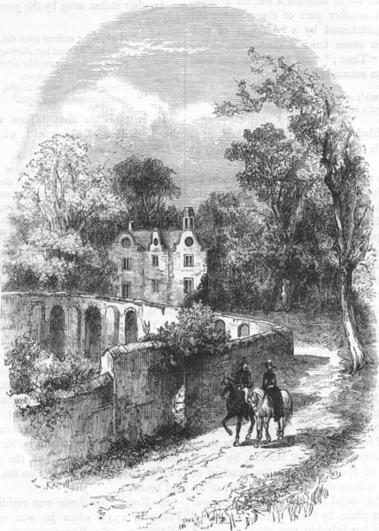 Associate Product HAREFIELD. Harefield Place (from an earlier 1815 print) 1888 old antique