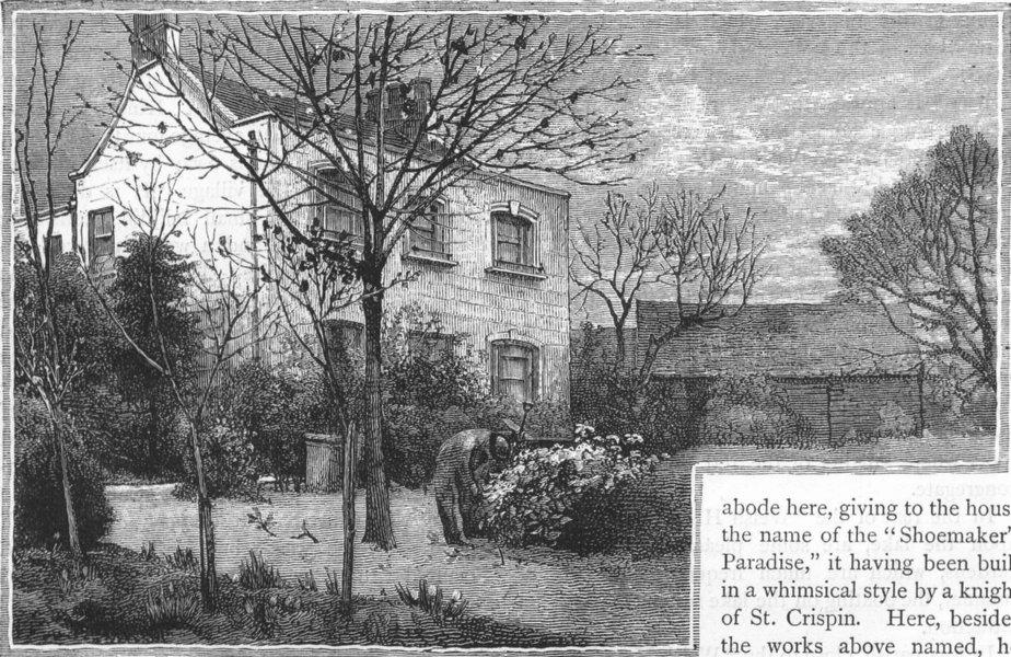 Associate Product HARROW WEALD/KINGSBURY. High House farm 1888 old antique vintage print picture