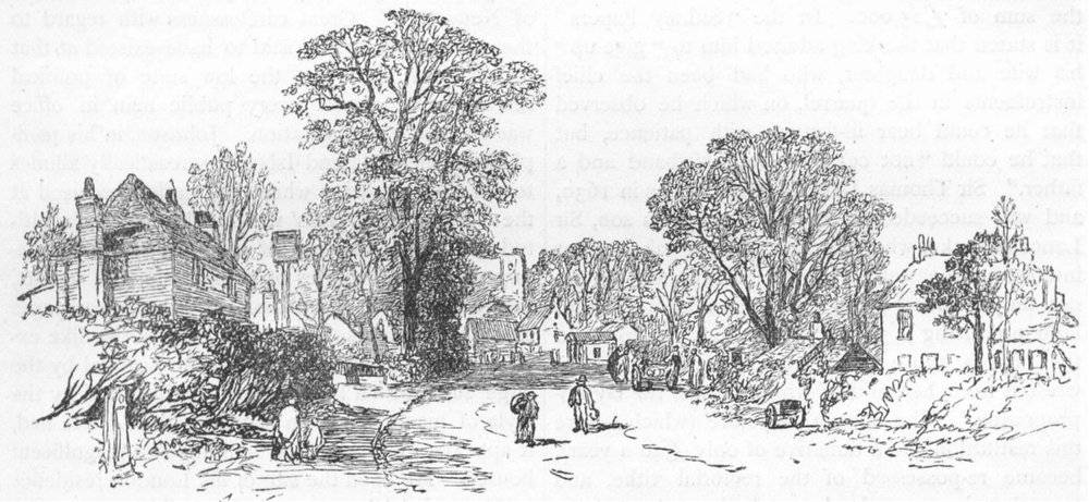 Associate Product LONDON. Village of Edgware (from a sketch made in 1858) 1888 old antique print