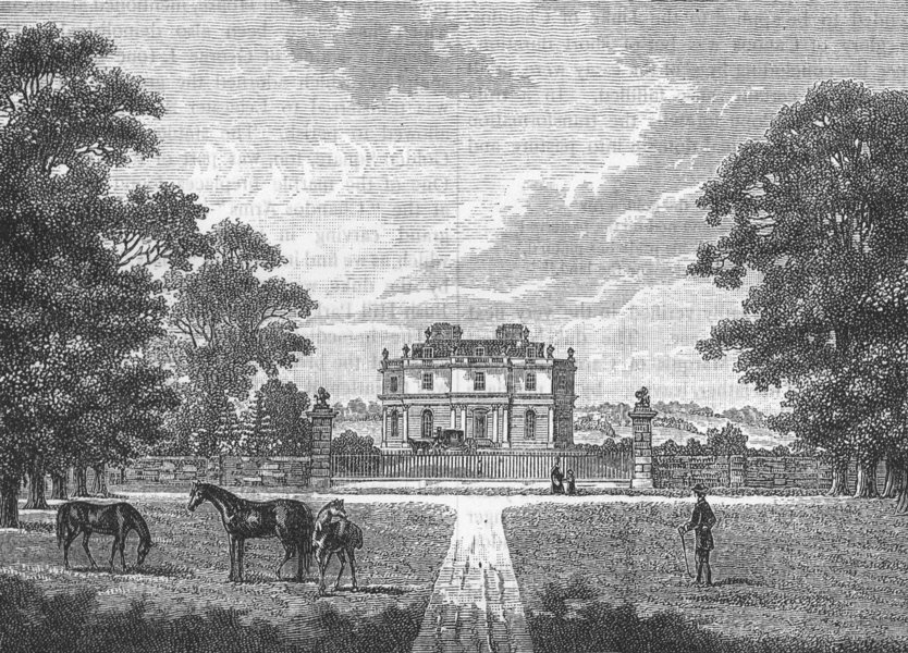 Associate Product EDGWARE AND LITTLE STANMORE. Canons (from a print published in 1782) 1888