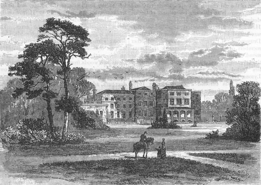Associate Product GREAT STANMORE AND ELSTREE. Bentley Priory (from a view taken in 1849) 1888