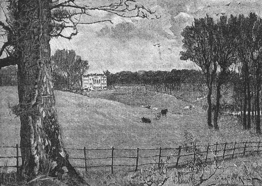 Associate Product HERTFORDSHIRE. Wrotham Park, HERTFORDSHIREmere 1888 old antique print picture