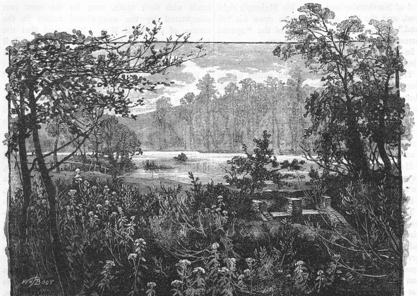 Associate Product ENFIELD CHASE. View in Trent Park 1888 old antique vintage print picture