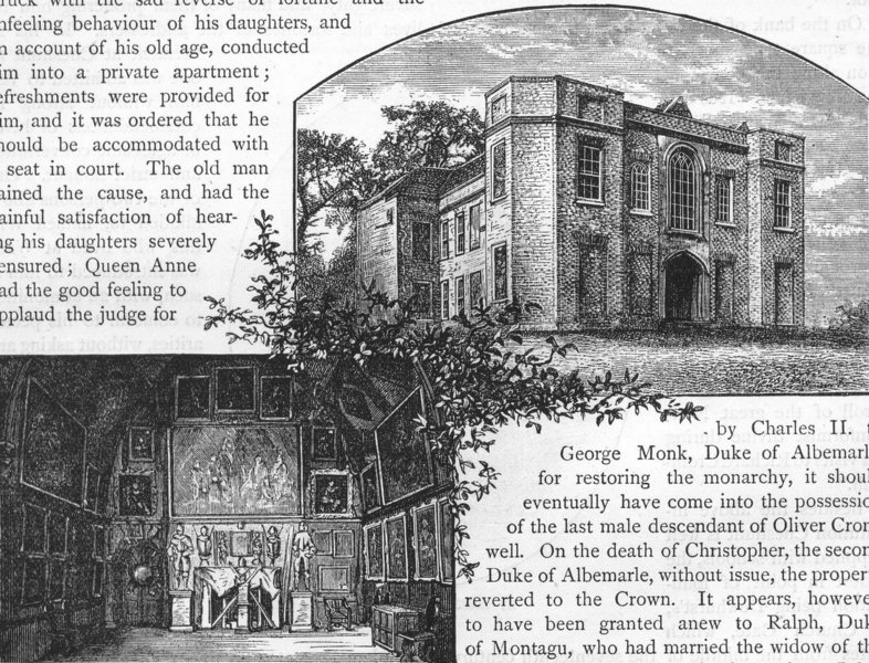 Associate Product CHESHUNT. The Old Manor House, Cheshunt. Hertfordshire 1888 antique print