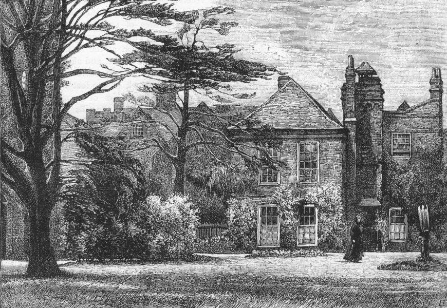 Associate Product PLAISTOW AND EAST HAM. Anne Boleyn's Castle 1888 old antique print picture