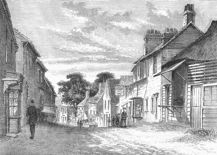 Associate Product LONDON. Dagenham 1888 old antique vintage print picture