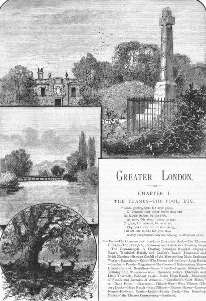 Associate Product LONDON. Prince Imperial; Camden House, Chislehurst; Molesey Weir 1888 print
