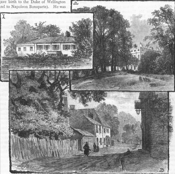 Associate Product THE CRAYS. House where Castlereagh died; Mount Mascal; North Cray 1888 print