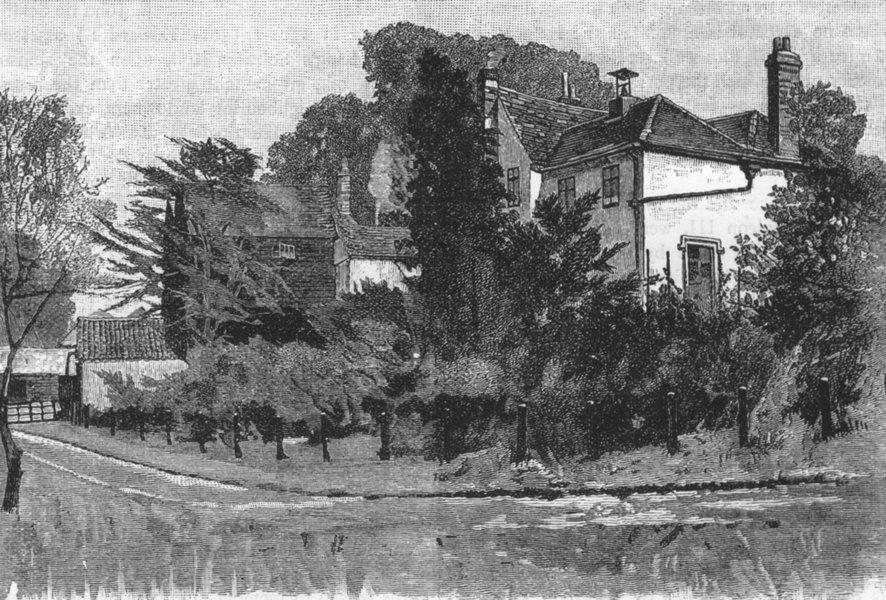 Associate Product CHISLEHURST. Scadbury 1888 old antique vintage print picture