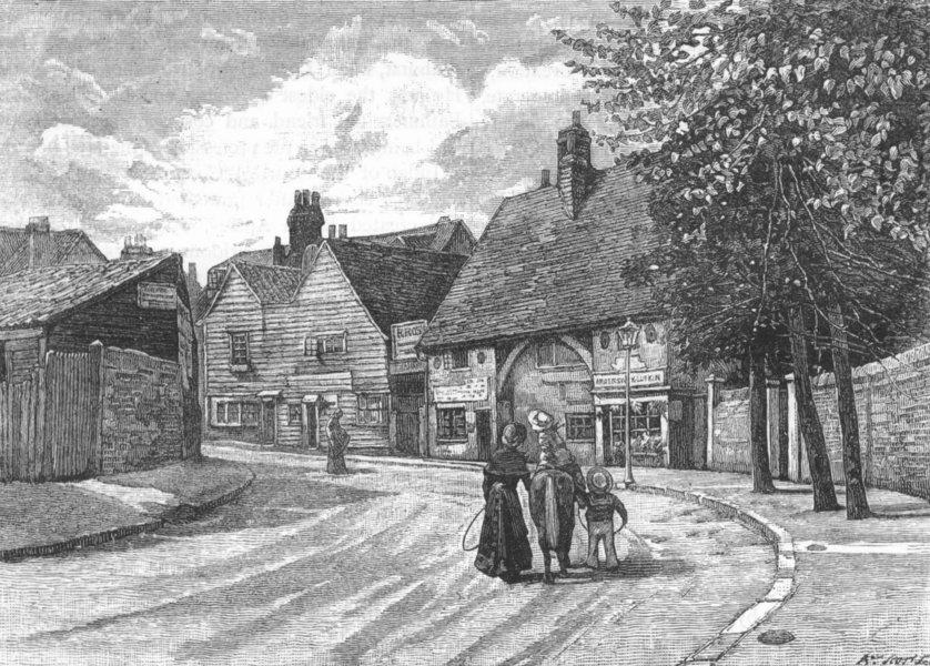 Associate Product BECKENHAM. Old timber house at Beckenham 1888 antique print picture