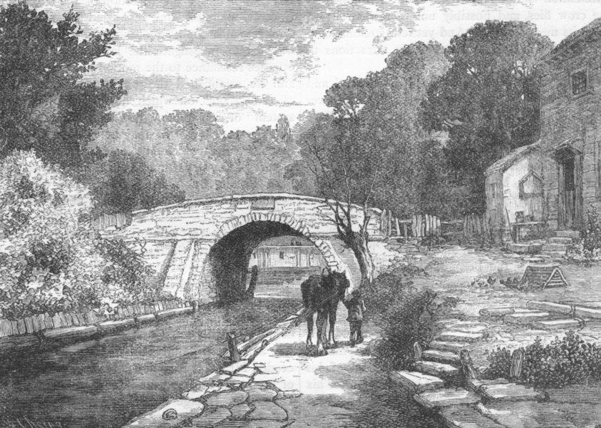 Associate Product LEWISHAM. Old Sydenham Bridge, 1831 1888 antique vintage print picture