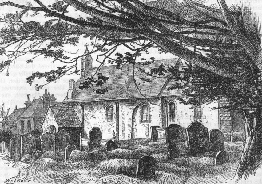 Associate Product KESTON. Keston Church. Kent 1888 old antique vintage print picture