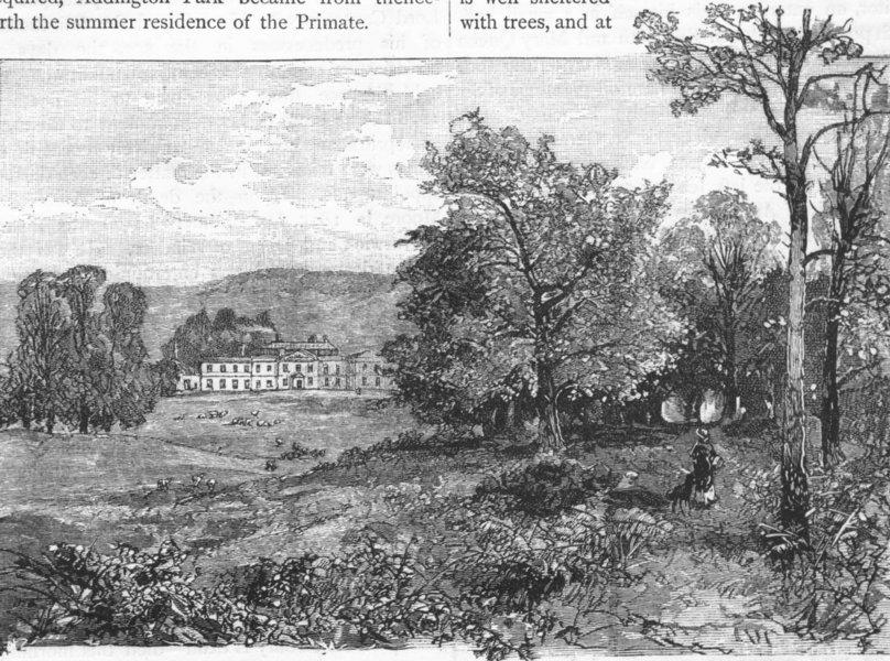 Associate Product ADDINGTON. Addington 1888 old antique vintage print picture