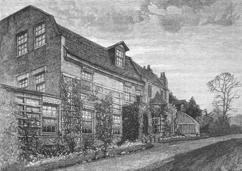 Associate Product CROYDON. Purley House 1888 old antique vintage print picture