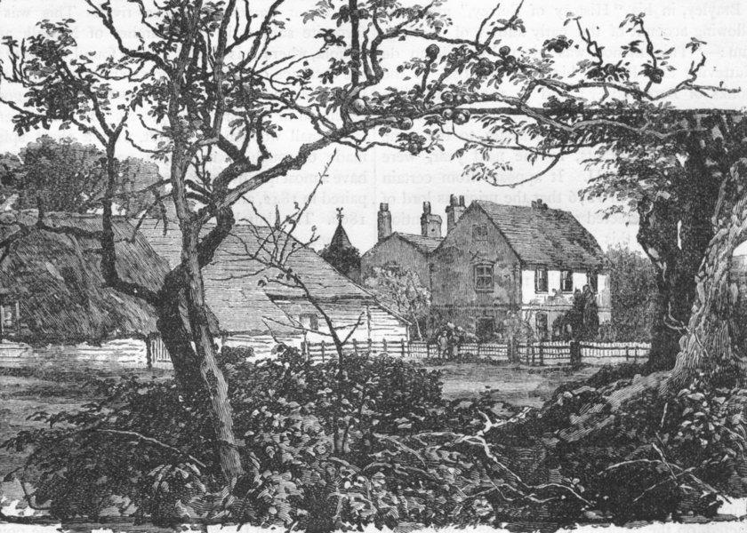 Associate Product SURREY. Farley Court 1888 old antique vintage print picture