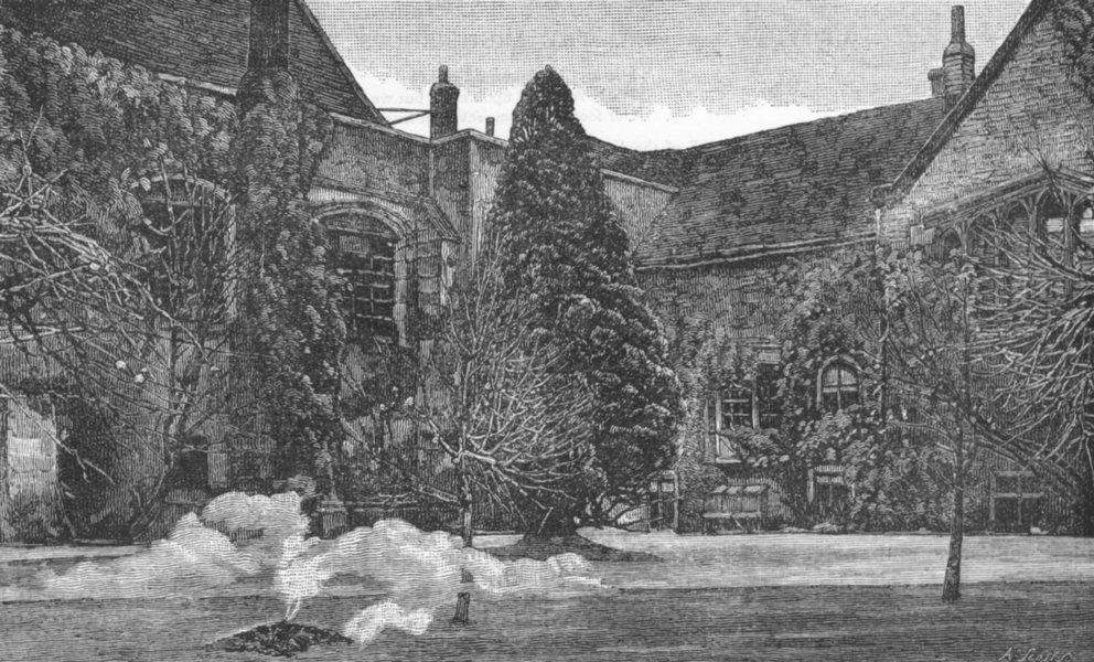 Associate Product CROYDON. A corner of Croydon Palace 1888 old antique vintage print picture