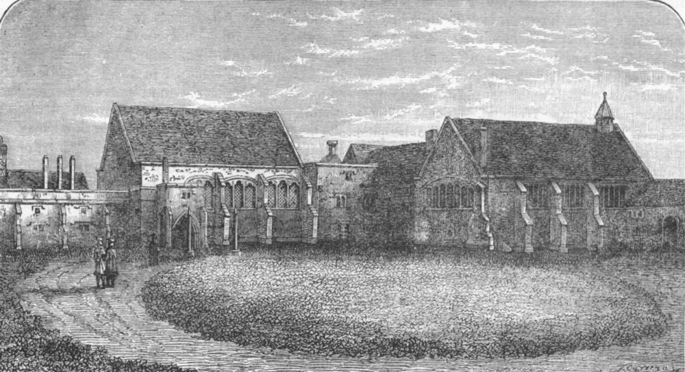Associate Product CROYDON . Old Croydon Palace, 1769 (From an old print) 1888 antique