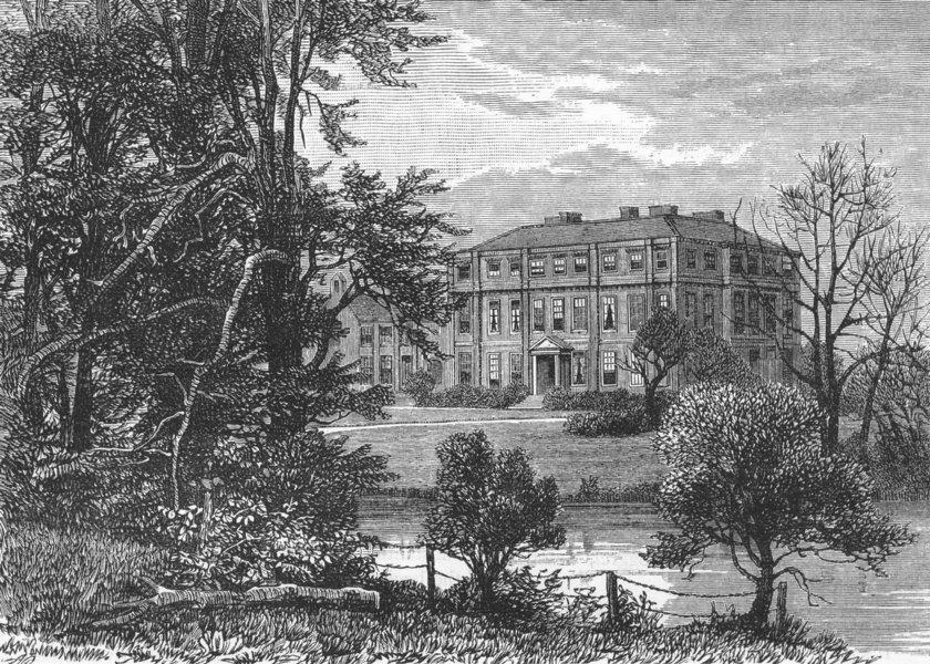 Associate Product CARSHALTON. Carshalton House 1888 old antique vintage print picture