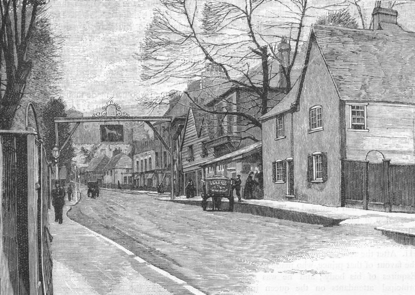 Associate Product CARSHALTON. Sutton 1888 old antique vintage print picture