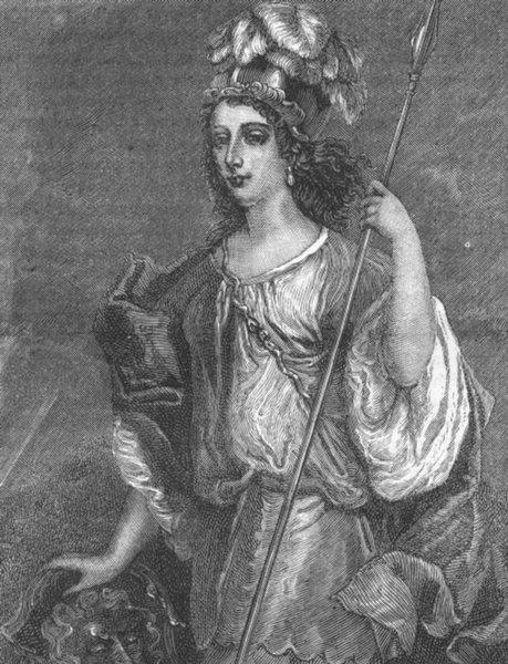 Associate Product LONDON. Lady Castlemaine. Ireland 1888 old antique vintage print picture