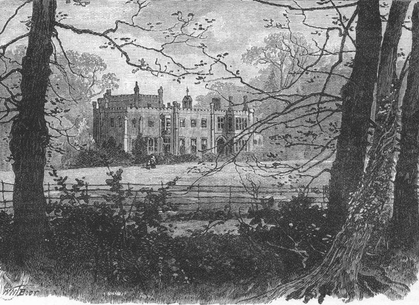 Associate Product LONDON. Nonsuch Park 1888 old antique vintage print picture