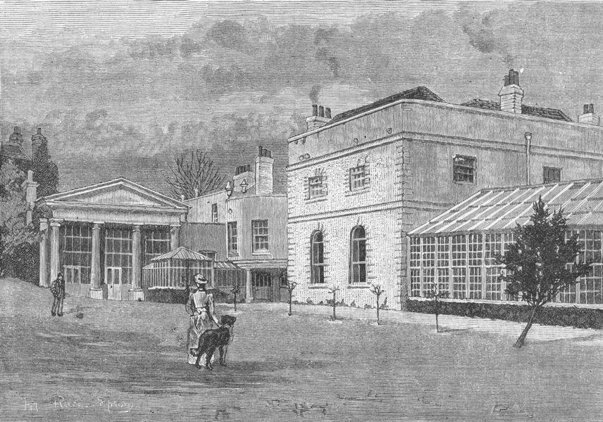 Associate Product EPSOM. Pit Place. Surrey 1888 old antique vintage print picture