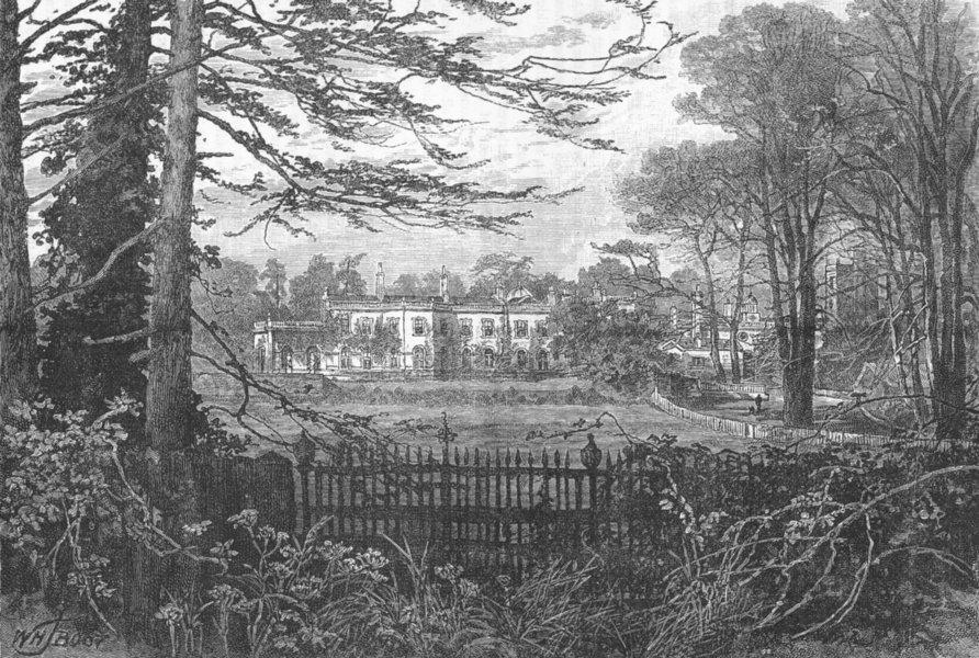 Associate Product EPSOM. Durdans. Surrey 1888 old antique vintage print picture