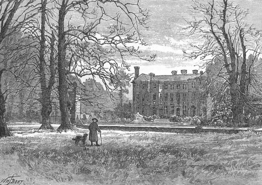 Associate Product HAM AND PETERSHAM. Ham House 1888 old antique vintage print picture