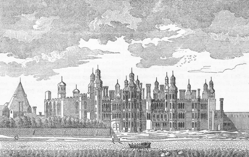 RICHMOND. Old Richmond Palace, as built by Henry VII (from a 1765 print) 1888