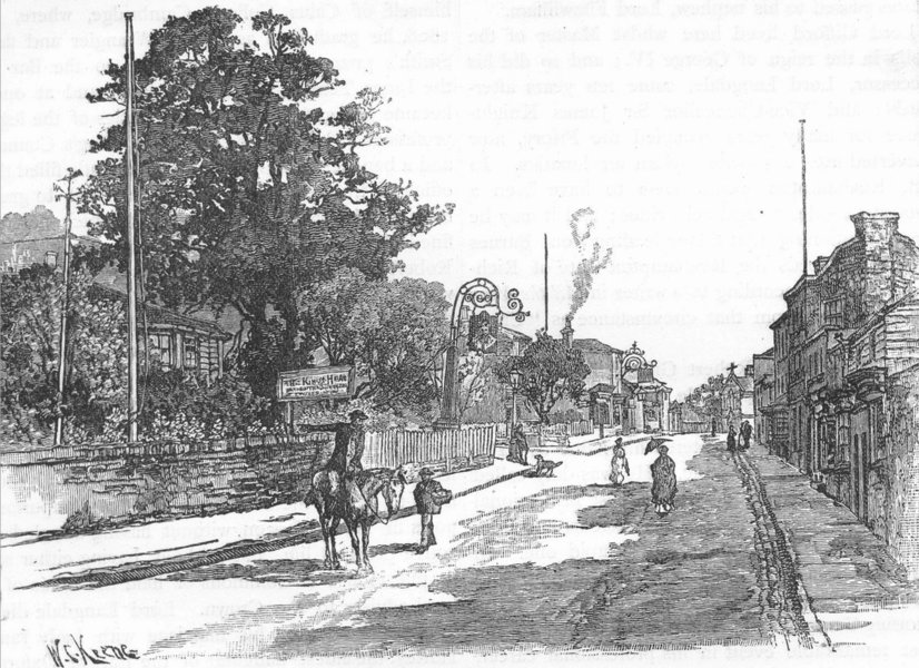 Associate Product ROEHAMPTON. View of Roehampton 1888 old antique vintage print picture
