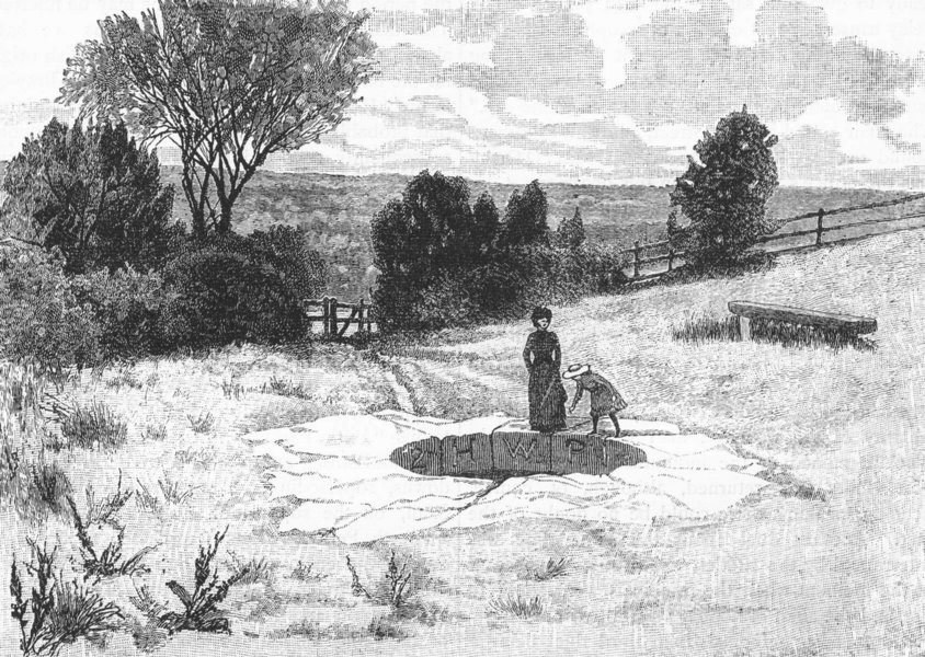 Associate Product WIMBLEDON COMMON. The Roman Well 1888 old antique vintage print picture
