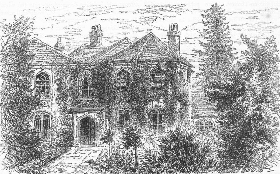 Associate Product LONDON. Morden Hall 1888 old antique vintage print picture