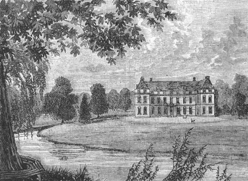 Associate Product MITCHAM. Mitcham Grove in 1796 (from an old print) 1888 antique