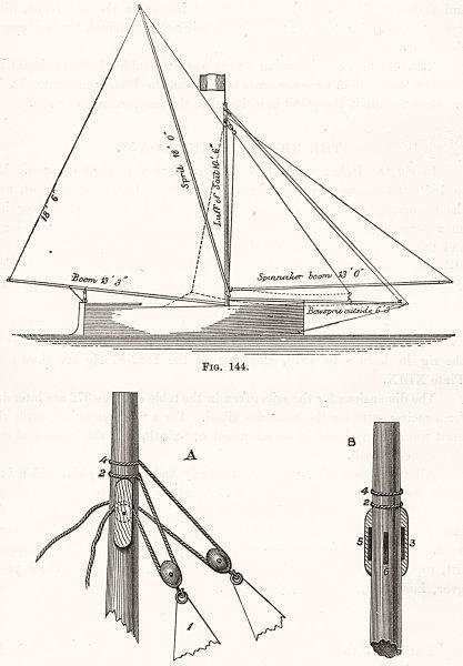 Associate Product SAILING. Itchen Boats. Punts 1891 old antique vintage print picture