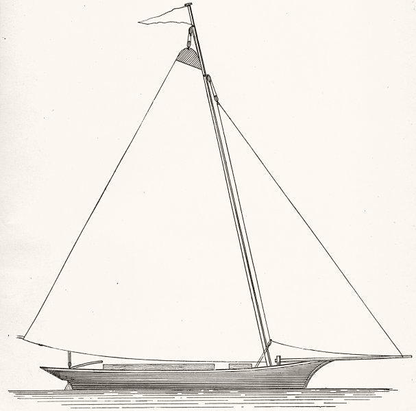 Associate Product YACHTS. Sailing. Bermudian Yacht 1891 old antique vintage print picture