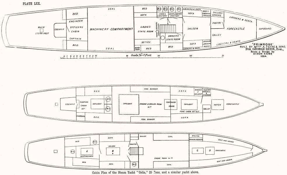 steam yacht diagram wiring block diagram Diagram of a Sailing Yacht steam yacht cabin plan \u0027primrose\u0027 \u0027celia\u0027, payne 1891 old antique sailboat electrical diagram steam yacht diagram