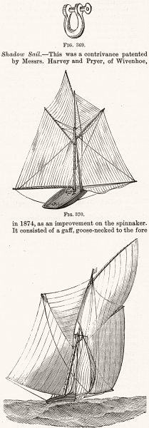 Associate Product BOATS. sailing boats 1891 old antique vintage print picture
