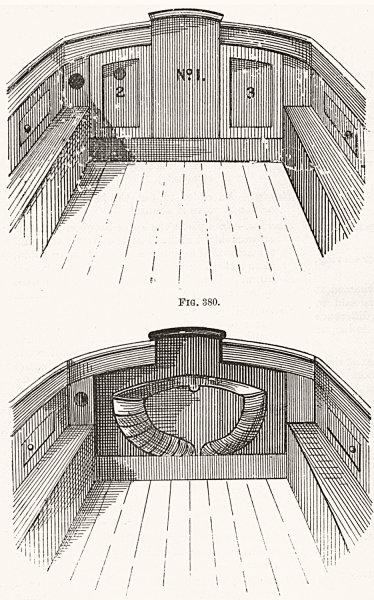 Associate Product YACHTS. deck layout 1891 old antique vintage print picture