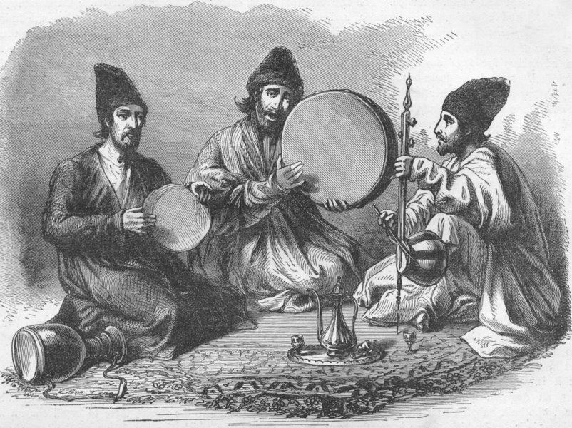 Associate Product IRAQ. Iraq. Persians of Basra 1880 old antique vintage print picture