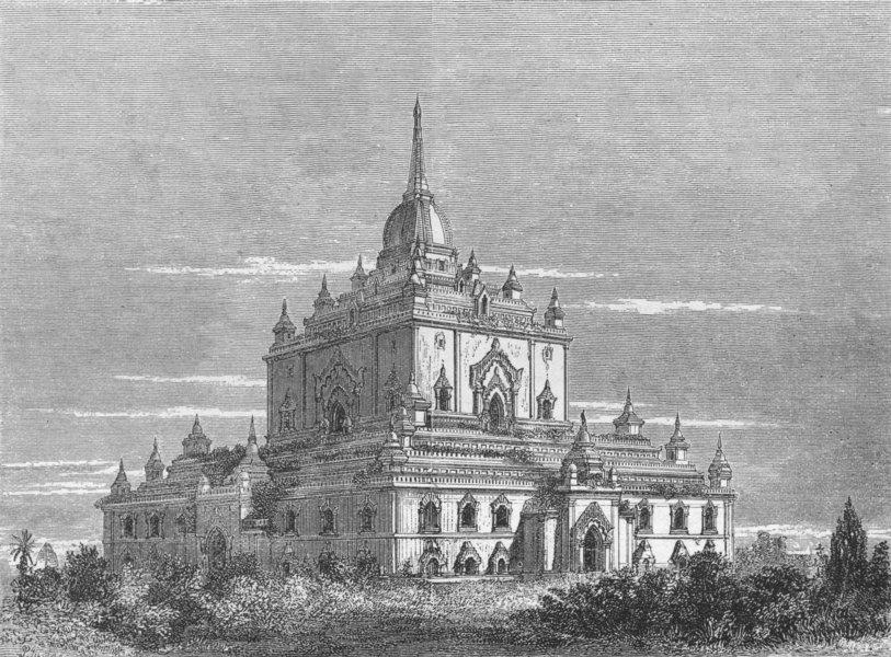 Associate Product BURMA. Burma. Thapinyu Pagoda, at Pagan 1880 old antique vintage print picture