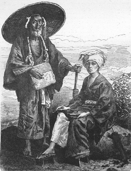Associate Product JAPAN. Japan. Japanese Pilgrims 1880 old antique vintage print picture