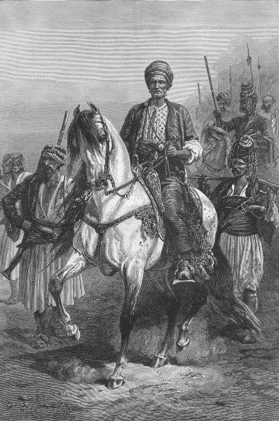 Associate Product IRAQ. Kara Fatima, Kurdish Princess  1880 old antique vintage print picture