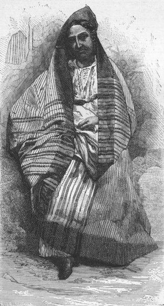 Associate Product IRAQ. Iraq. Lady of Baghdad 1880 old antique vintage print picture