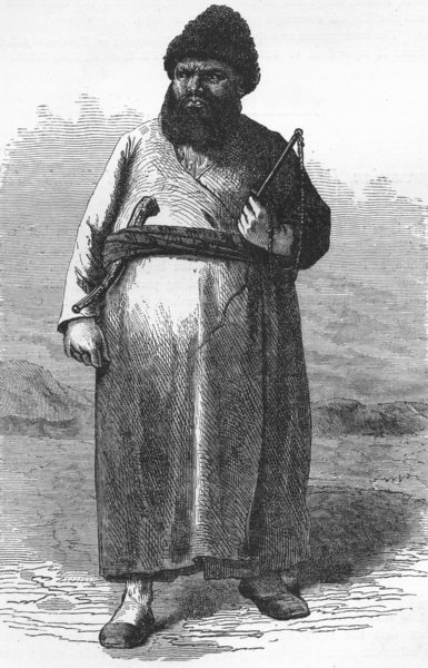 Associate Product IRAN. A Turkoman 1880 old antique vintage print picture